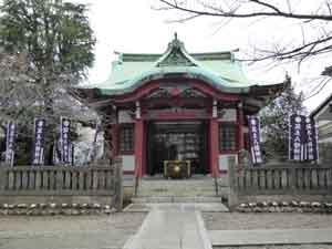 筑土八幡神社 田村虎蔵旧居跡